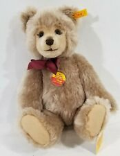 "LM VINTAGE Steiff 010859 Original 14"" Mohair Jointed Teddy Bear W Red Bow NEW"