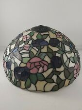 """New ListingAuthentic Dale Tiffany 16"""" Signed Stained Table Lamp Shade Hummingbirds Light"""