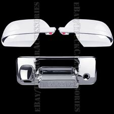 Chrome Covers For TOYOTA Tundra Crew Max 2014-2017 Full Mirrors+Tailgate Letters