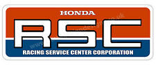 "HONDA RSC DIGITALLY CUT OUT VINYL STICKER. 6"" X 2"" OVERALL SIZE."