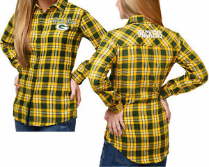 Forever Collectibles NFL Women's Green Bay Packers Check Flannel Shirt