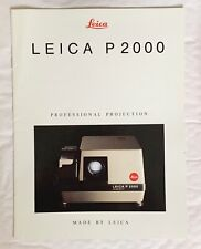 Leica P2000 Projector  A4 Product Brochure