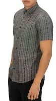 Hurley Mens Shirt Gray Size XL Button Up Floral Print Tailored Fit $50 #077