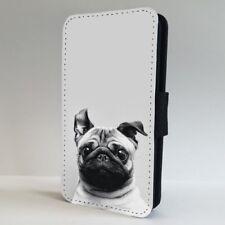 Pug Dog Cute Big Ears FLIP PHONE CASE COVER for IPHONE SAMSUNG
