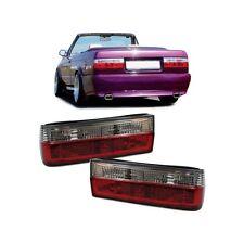 2 FEUX ARRIERE ROUGE ET BLANC CRISTAL BMW SERIE 3 E30 BERLINE CABRIO