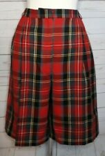 Women's Red Plaid Culottes Shorts Sz 14