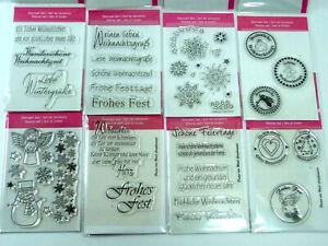 Abverkauf Stempel Clear Stamps Silikonstempel Winter Weihnachten Sterne Restpost