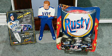 RARE RUSTY WALLACE Limited Edition FIGURE BY Black Horse & BONUS ITEMS
