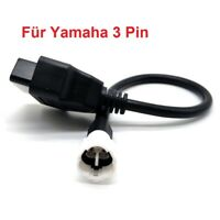 Adapter für Motorrad Yamaha 3 Pin Plug zu OBD 2 OBD2 Adapterkabel Bike