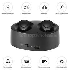 Mini True Twins Wireless Bluetooth 4.1 Headphone In-ear Stereo Sport Headset Mic