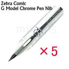 Zebra Comic G Model Chrome Pen Nib, Pack of 5