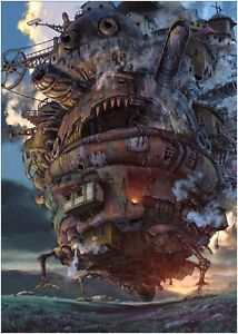 Howls Moving Castle Anime Classic Movie Large Poster Art Print Maxi A1 A2 A3 A4