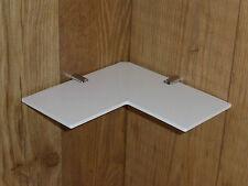 "2 x Safety Corner Shelves White Acrylic Bathroom Bedroom 9"" Corner Shelf 9 inch"