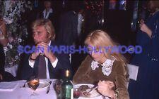 SYLVIE VARTAN  JOHNNY HALLYDAY 70s DIAPOSITIVE DE PRESSE ORIGINAL SLIDE #306