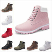 Womens Winter Martin Ankle Boots Outdoor Work Casual Waterproof Lace up Shoe lot