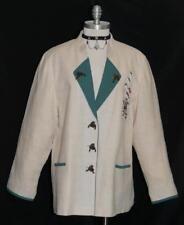 WHITE ~ LINEN German Women SUMMER Hunting Trachten SPORT Dress Suit JACKET 16 L