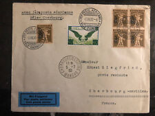 1930 Basel Switzerland to Cherbourg France First Flight Cover FFC  # C14 207(5)