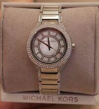 NWT Michael Kors Women's Mini Kerry Stainless Steel & Pavé Crystal Watch MK3441
