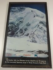 Lou Whittaker Signed Poster Framed Mount Everest First American Ascent 1984