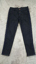 Coldwater Creek Womens/Juniors Dark Wash Embroidered Sides Jeans Size 4 (29x26)