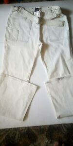 Younique Jeans Womens 7 Flare Off White