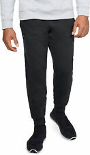 Under Armour Rival Mens Fleece Joggers Black Sweat Pants Gym Training