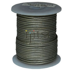 2mm round silver genuine leather cord 25 meters  spool