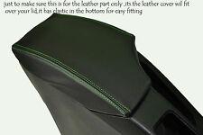 GREEN STITCHING FITS SEAT TOLEDO 2004-2008 LEATHER ARMREST SKIN COVER ONLY