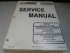 Mercury Marine Outboards Service Manual 135 150 175 200 90-816249 OEM Boat x