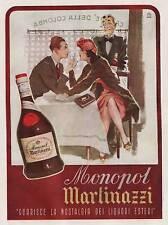 PUBBLICITA' 1943 MONOPOL MARTINAZZI TORINO BRANDY COGNAC LIQUORE BAR CAFFE'