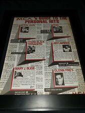 Elton John/Mary J Blige/Glenn Frey Rare Original Radio Promo Poster Ad Framed