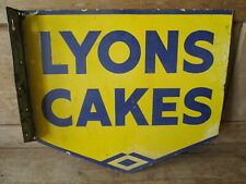 Lyons Cakes enamel sign.Advertising sign. Kitchenalia.Vintage sign.