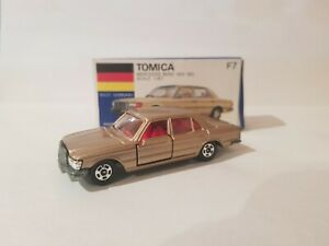 Tomica F7 - MERCEDES BENZ 450SEL [GOLD] MINT VHTF BOX GREAT MADE IN JAPAN