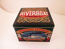 Riverboat Gambling Kit Poker Card Metal Tin Only Made In England