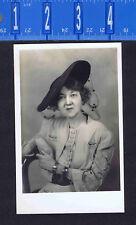 Stylist Woman in Hat & Jewelry West Va EKC REAL PHOTO RPPC Postcard 1930-40