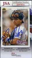 Ivan Rodriguez JSA Coa Autograph 1991 Upper Deck Rookie Hand Signed