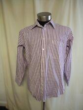 "Mens Shirt Pierre Cardin, collar 39 cm/15 1/2"", white/purple stripe, formal 0348"