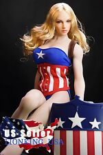 1/6 Ms Captain America Figure Head FULL Set Phicen Muscular Body ❶USA IN STOCK❶