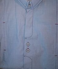 John Lennon Dress Shirt British Flag  Embroidered Lennon Head Double buttons