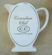 Vintage Canadian Club Cc The Best In The House Oval Ceramic Pitcher Wade