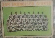 1964 Topps #257 San Francisco Giants TC, VG,  *Mays, McCovey, Cepeda, Marichal*