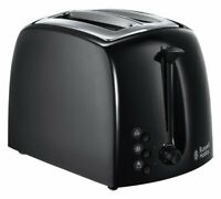 Russell Hobbs 21641 Textures 2 Slice Toaster Stunning High Gloss With Black NEW