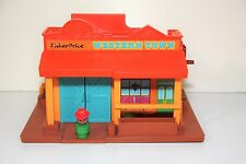 Fisher Price Little People WESTERN TOWN #934(1982) Playset & 1 Figure