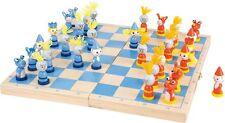 Schach Ritter für Kinder Holz Schachspiel Strategiespiel Kinderschach Spiel Neu