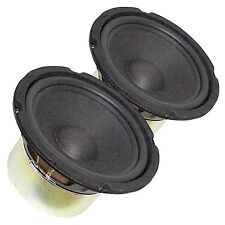 """Pair 8"""" Subwoofer Woofer Heavy Duty Shielded Magnet Rubber Surround 4Ohm"""