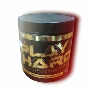 Teacrine Play Hard pre workout 30 servings. Increases physical performance