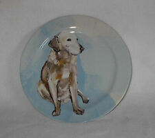 Anthropologie SALLY MUIR Dog - A - Day Yellow Lab Retriever glazed plate.