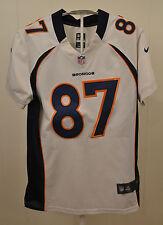 Nike Onfield Denver Broncos Jersey #87 Eric Decker NFL White Sewn Kids Large