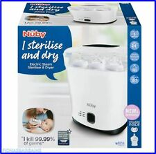 NEW & SEALED Nuby Natural Touch Electric Steam Baby Bottle Steriliser And Dryer