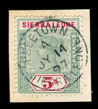 MOMEN: SIERRA LEONE SG #52 1896-1897 USED LOT #60041